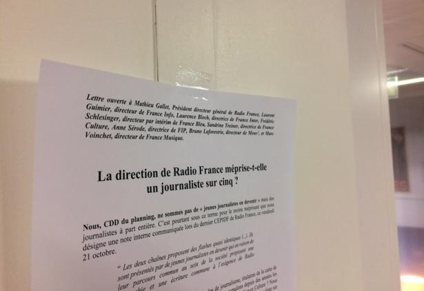 Lettre ouverte des journalistes précaires de Radio France