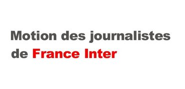 Motion des journalistes de France Inter
