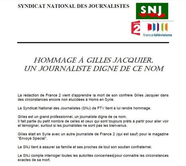 Hommage à Gilles Jacquier