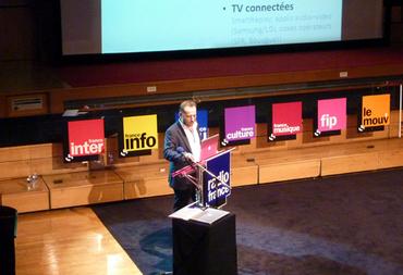 Joël Ronez durant la conférence de presse