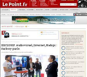 Nicolas Sarkozy bisse