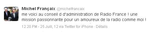 Un nouvel administrateur pour Radio France