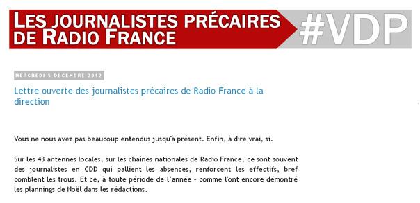 Les précaires adressent une lettre ouverte à la direction de Radio France