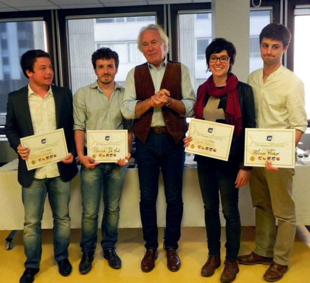 Les laureats : Damien Triomphe, Pierrick de Morel, Agathe Mahuet, Lucas Roxo  | © @gubalda