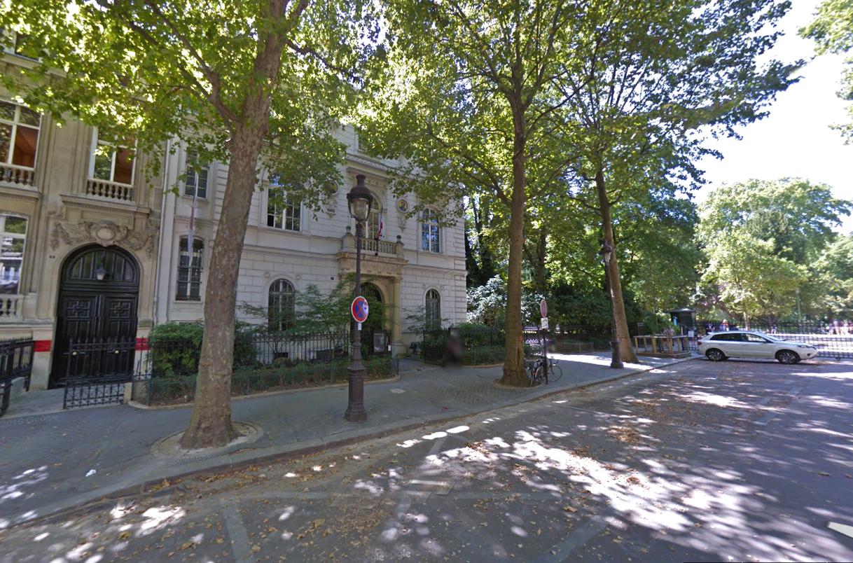 Le siège de la SCAM - 5, rue Vélasquez 75008 - Capture d'écran @ Google Map