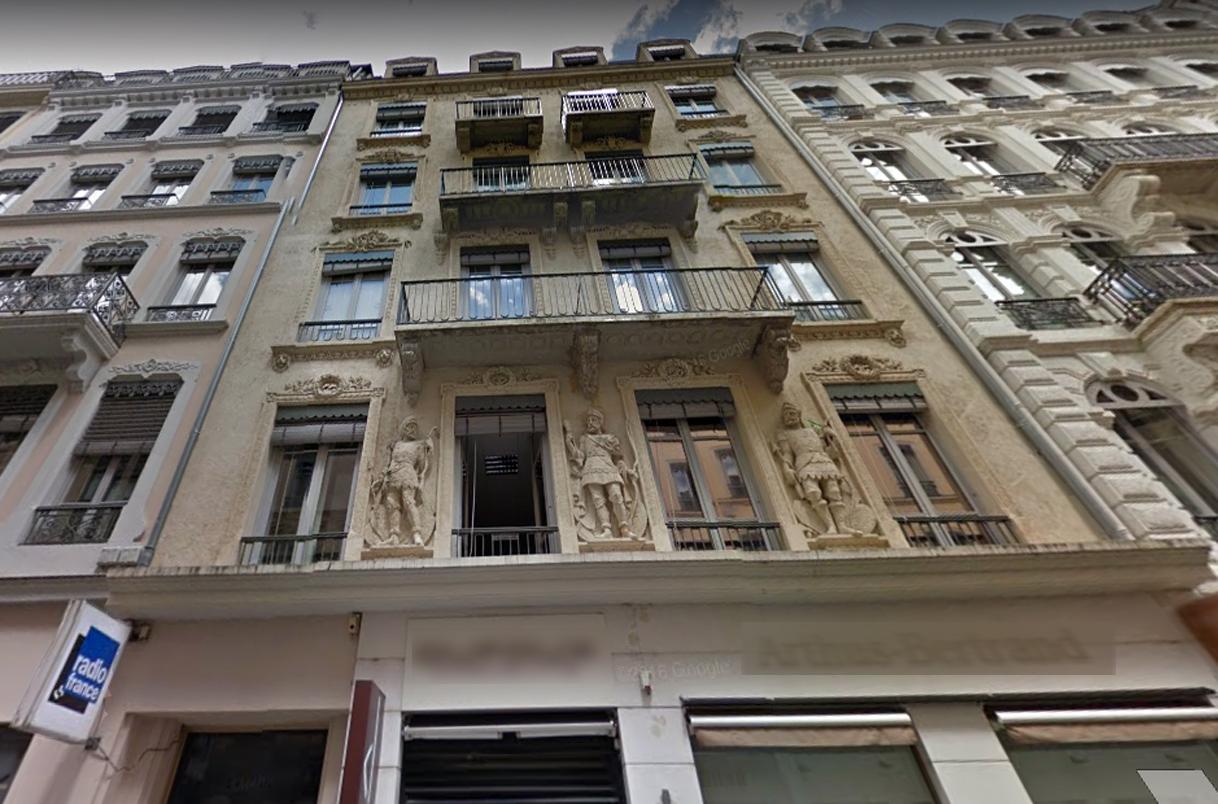 La façade de l'immeuble rue des Archers, siège actuel du bureau de Lyon © Google map