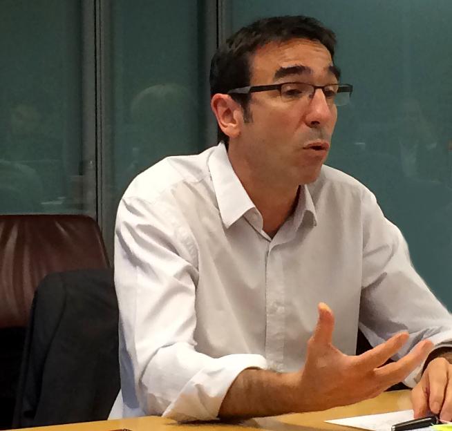 Stéphane Delpech au cours d'une réunion de négociation en novembre 2014 © ve/Snj