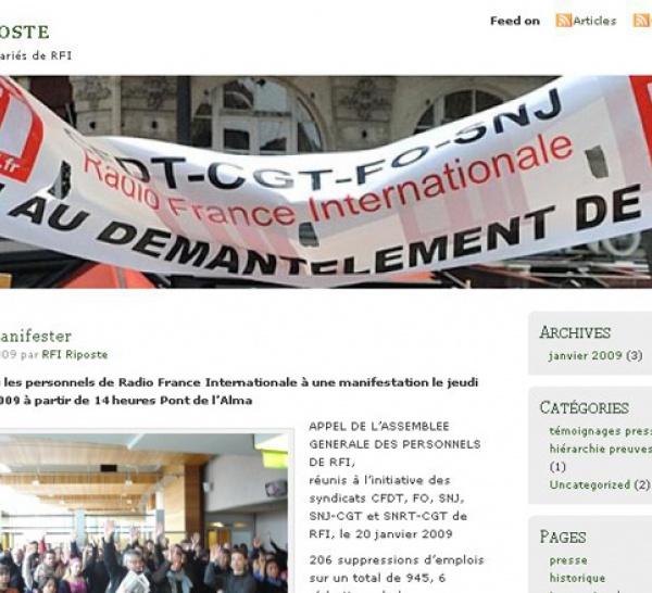 Les personnels de RFI ouvrent un blog