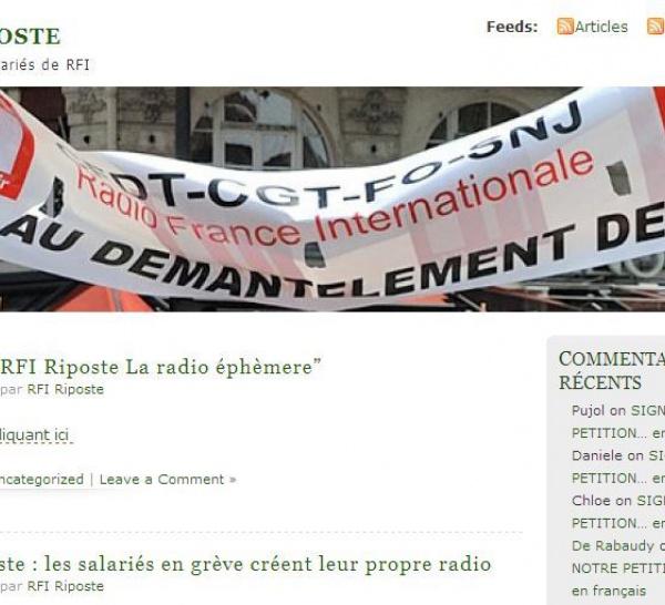 RFI Riposte : écoutez la radio éphémère des salariés en grève de RFI